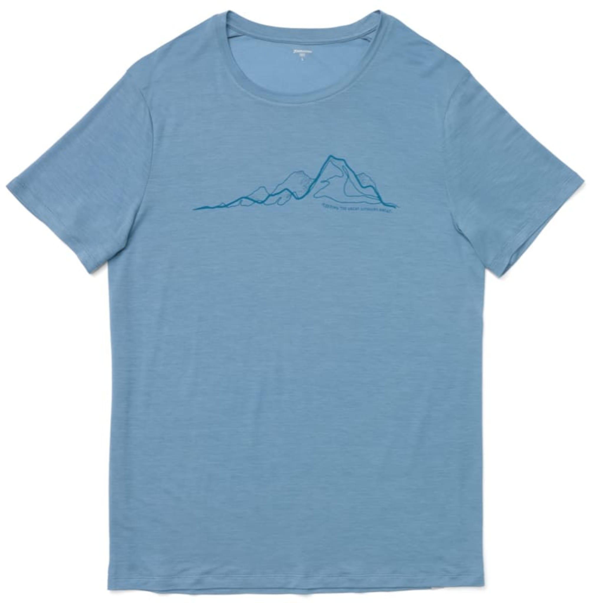 T-skjorte laget av trekjerner