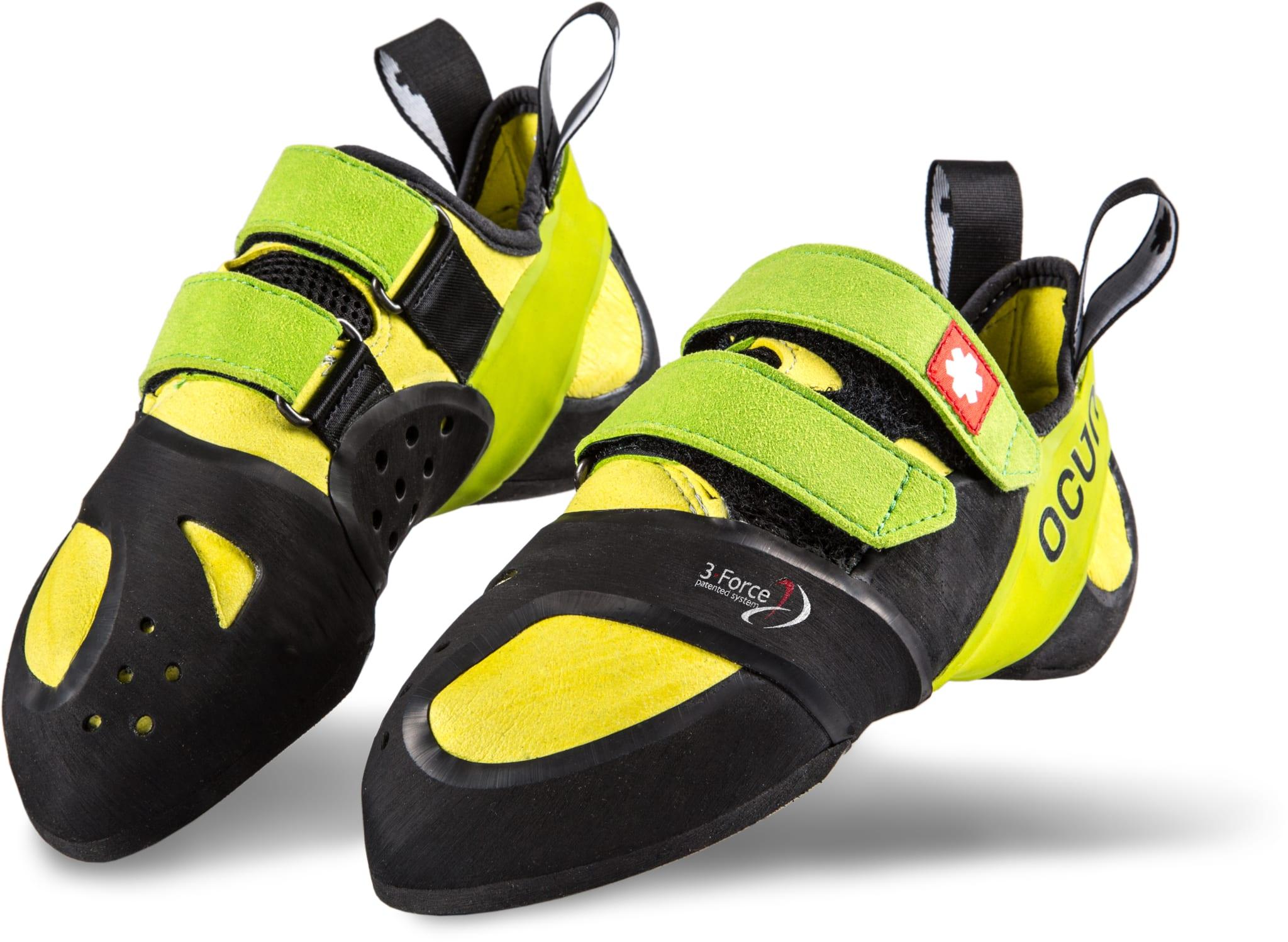 Litt bredere sko til buldring og sportsklatring