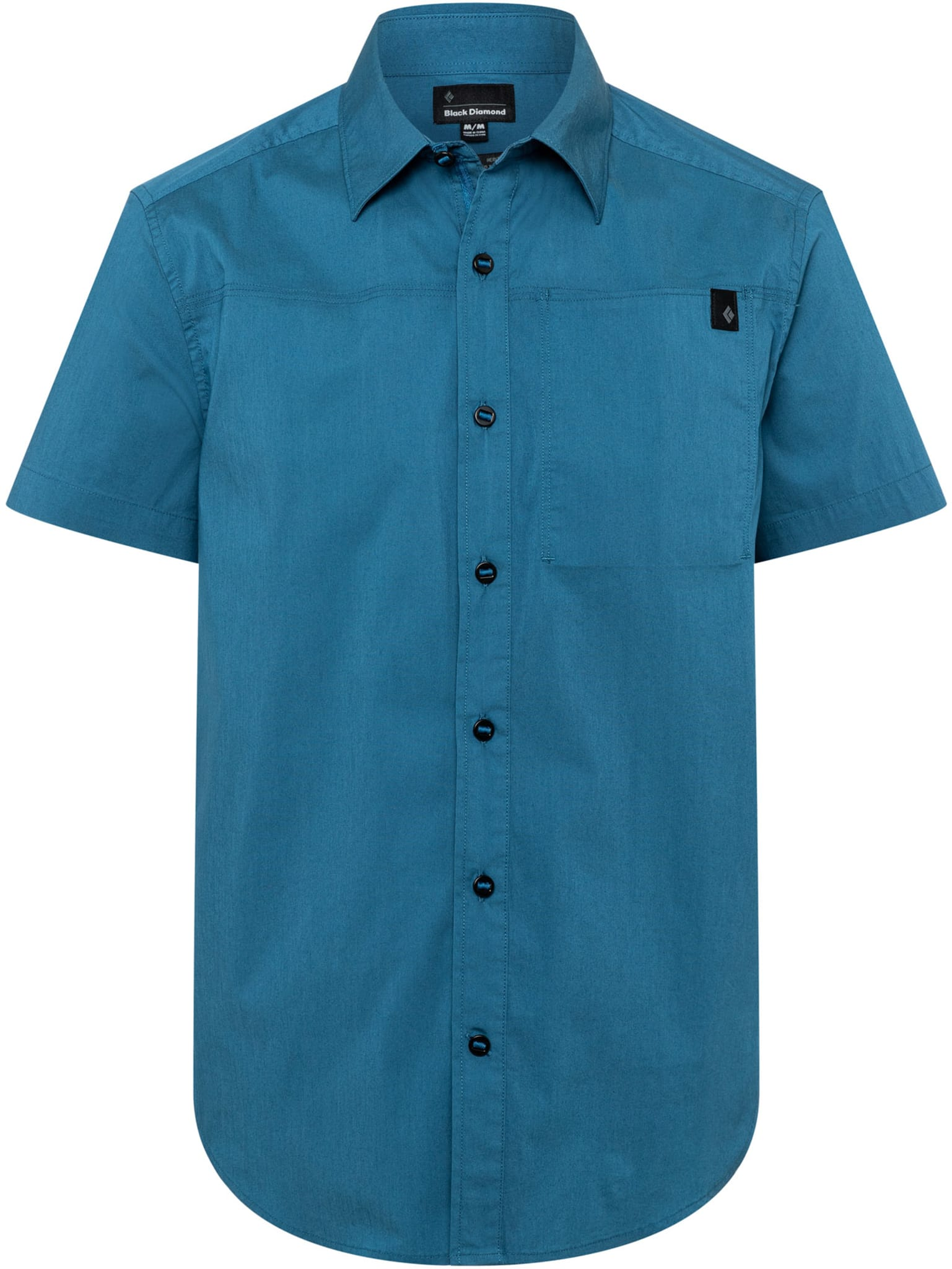 Kortermet bomullskjorte med stretch
