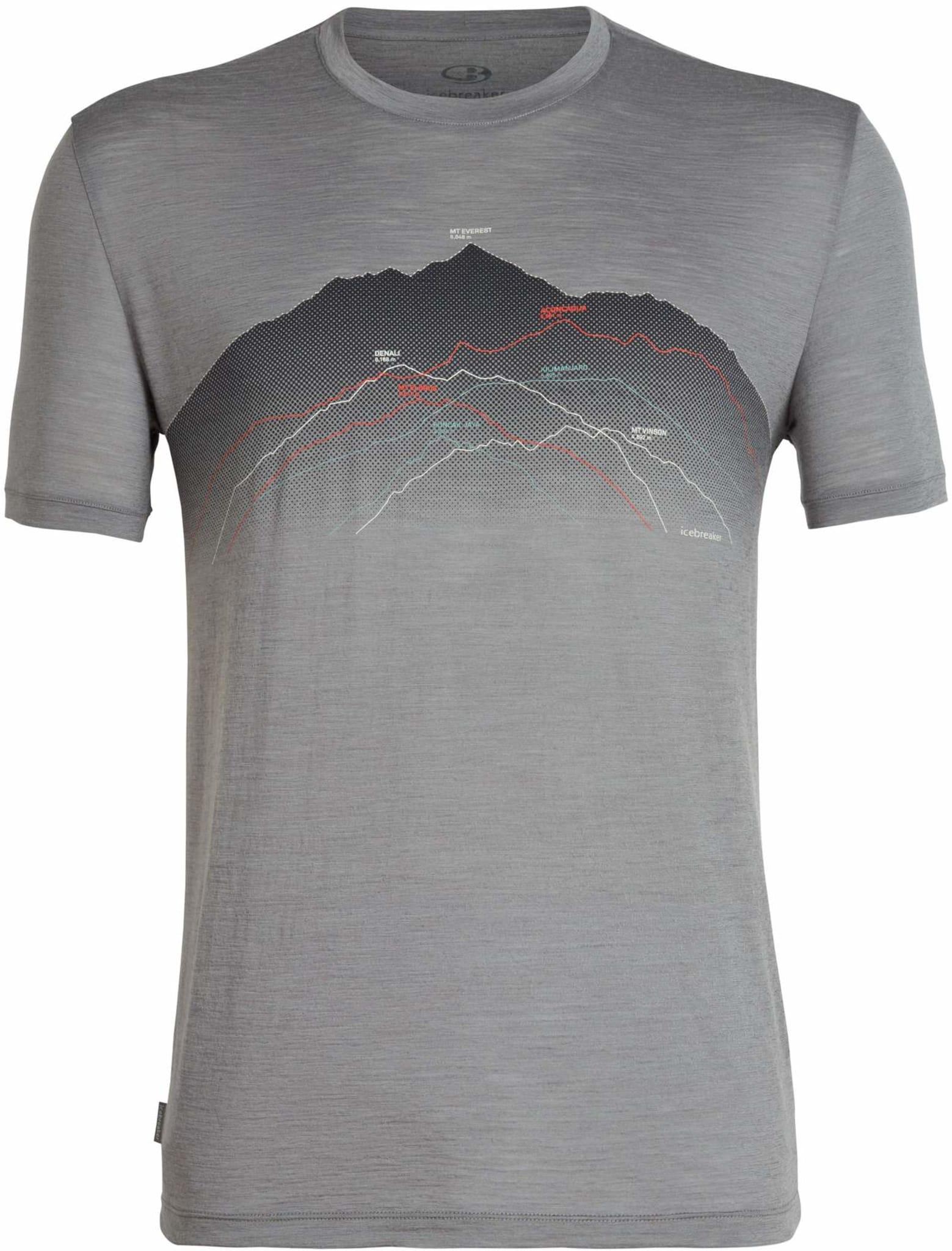 Tynn t-skjorte med print i merinoull