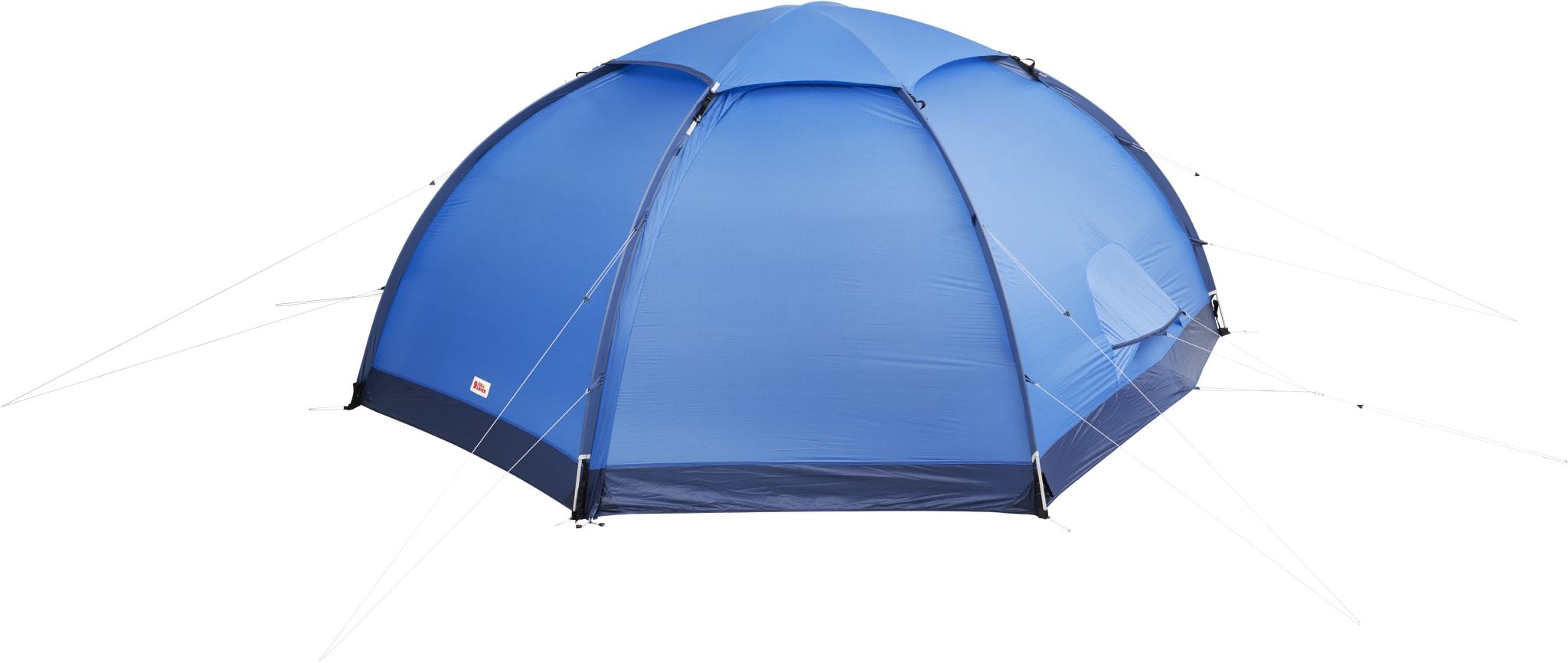 Selvstående konstruksjon med tre teltstenger, med god høyde og førsteklasses ventilasjon.