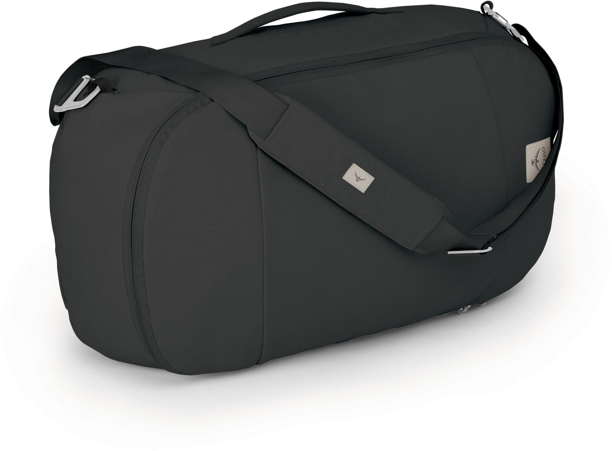 Genial liten duffelbag/sekk/skulderbag i resirkulerte materialer