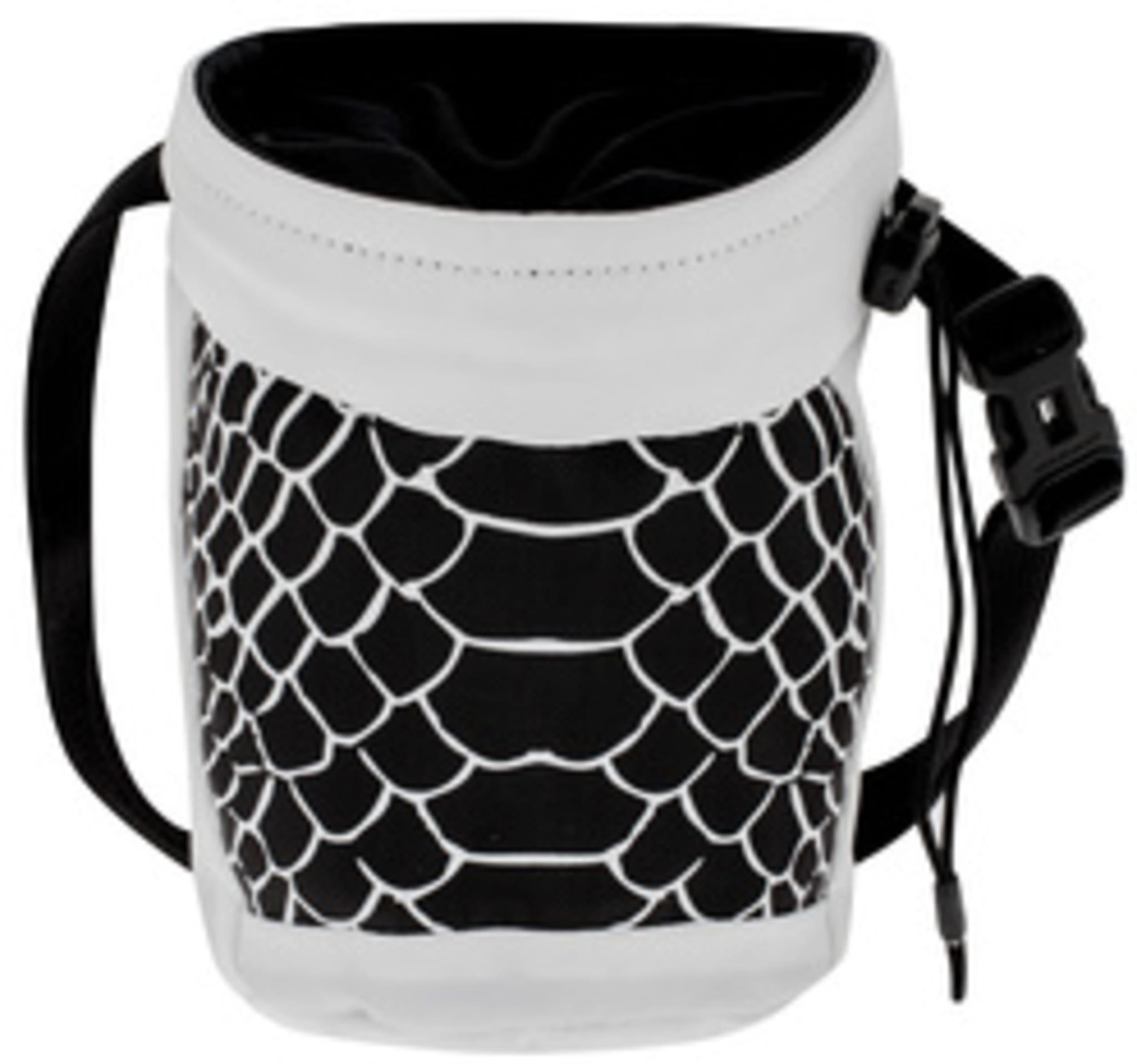 Lett kalkpose som kan festes rett på Alnasca klatresele