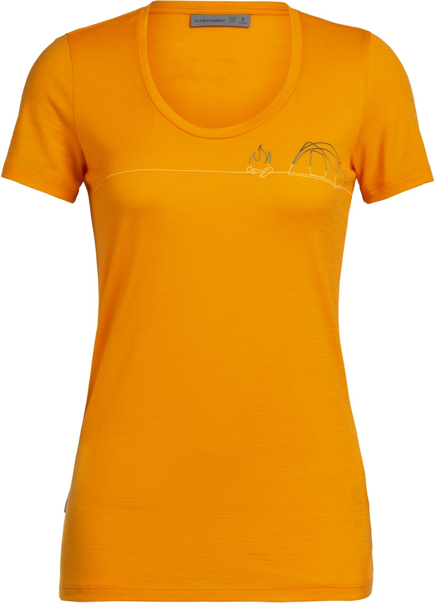 Tynn og behagelig t-skjorte i merinoull med åpen hals