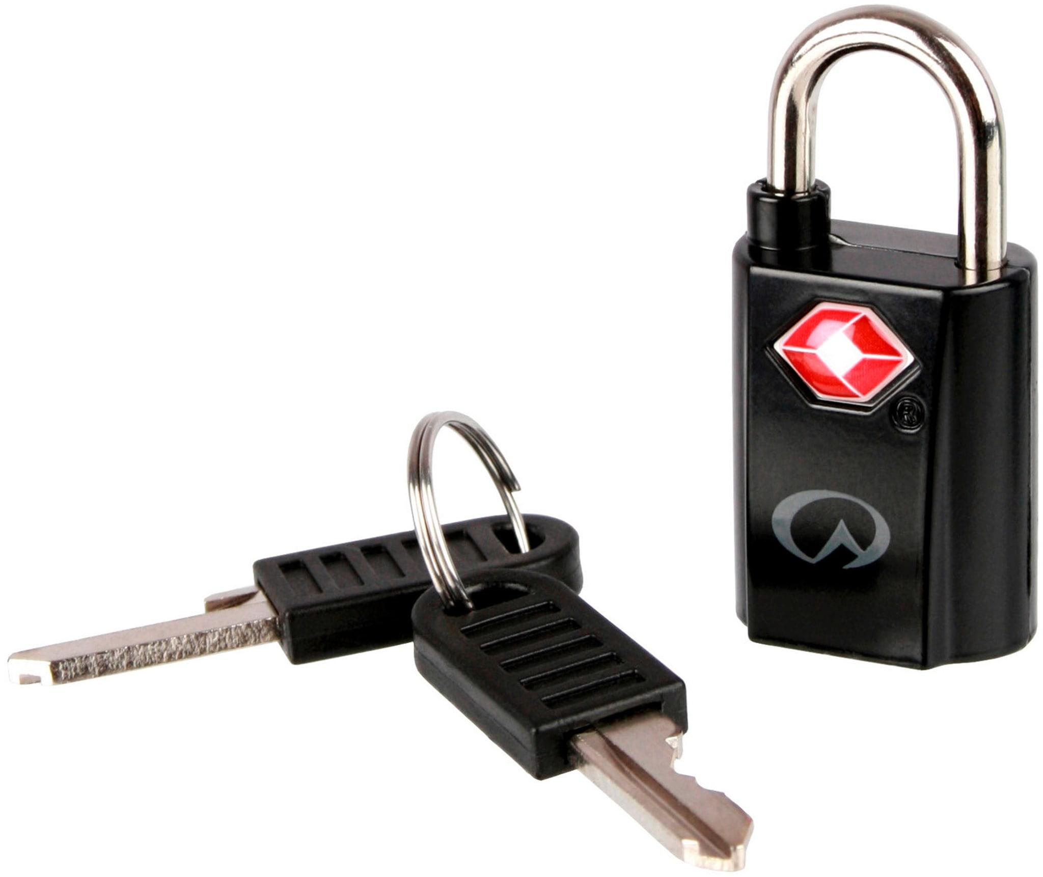 2 stk bagasjelåser med nøkkel.