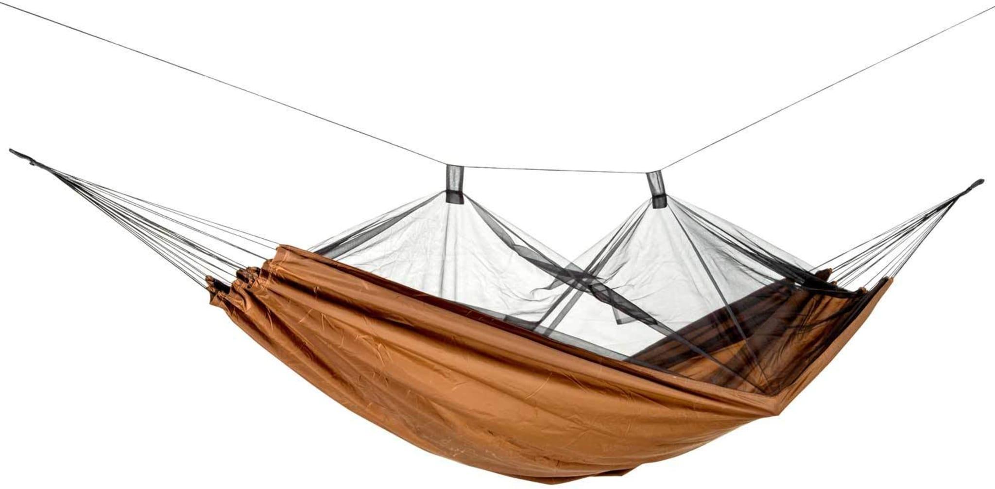 Komfortabel hengekøye med integrert myggnett og anti-insekts impregnering!