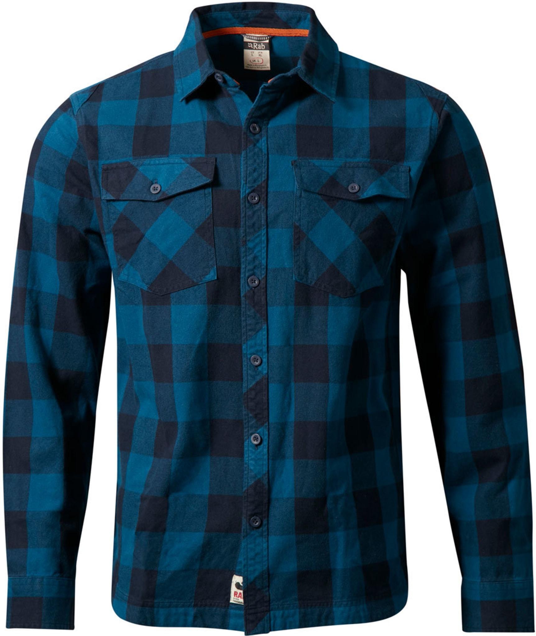 Klassisk skjorte i børstet bomullsmateriale