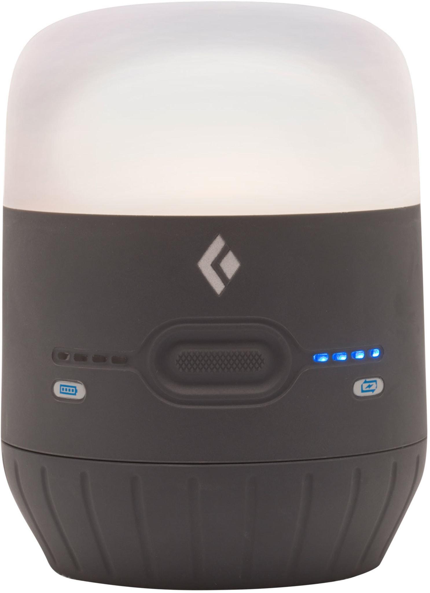 Robust USB-ladestasjon og teltlykt på 250 lumen