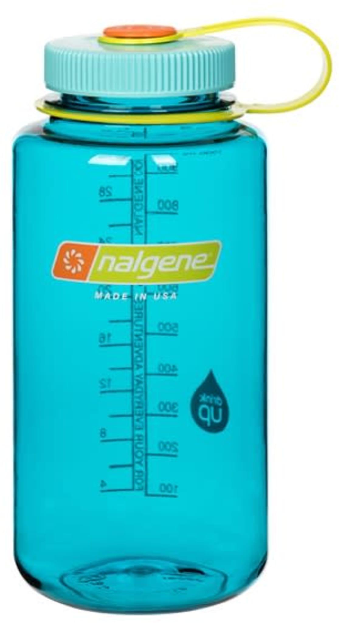 Drikkeflaske med stor åpning og volum på 1 liter.