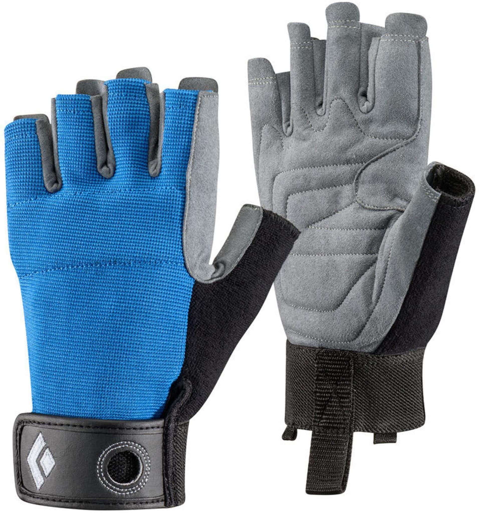 Lett, luftig og slitesterk fingerhanske for sikring, rappeller og annen taukontakt.