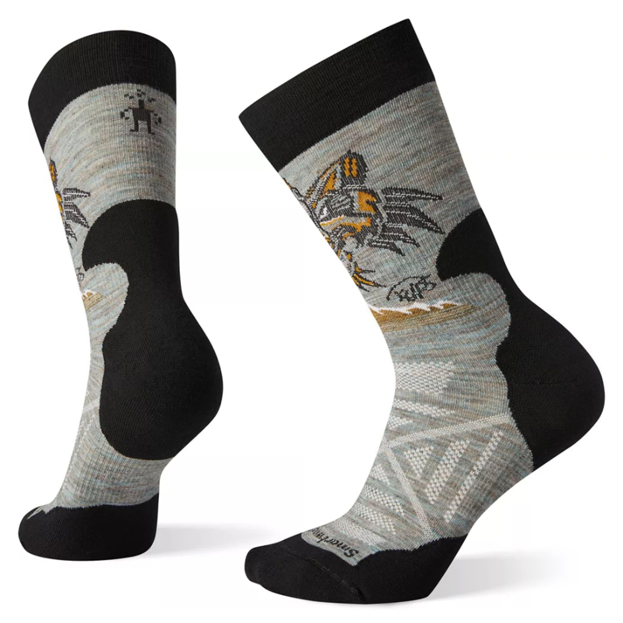 Hiking sokk i sprekt design