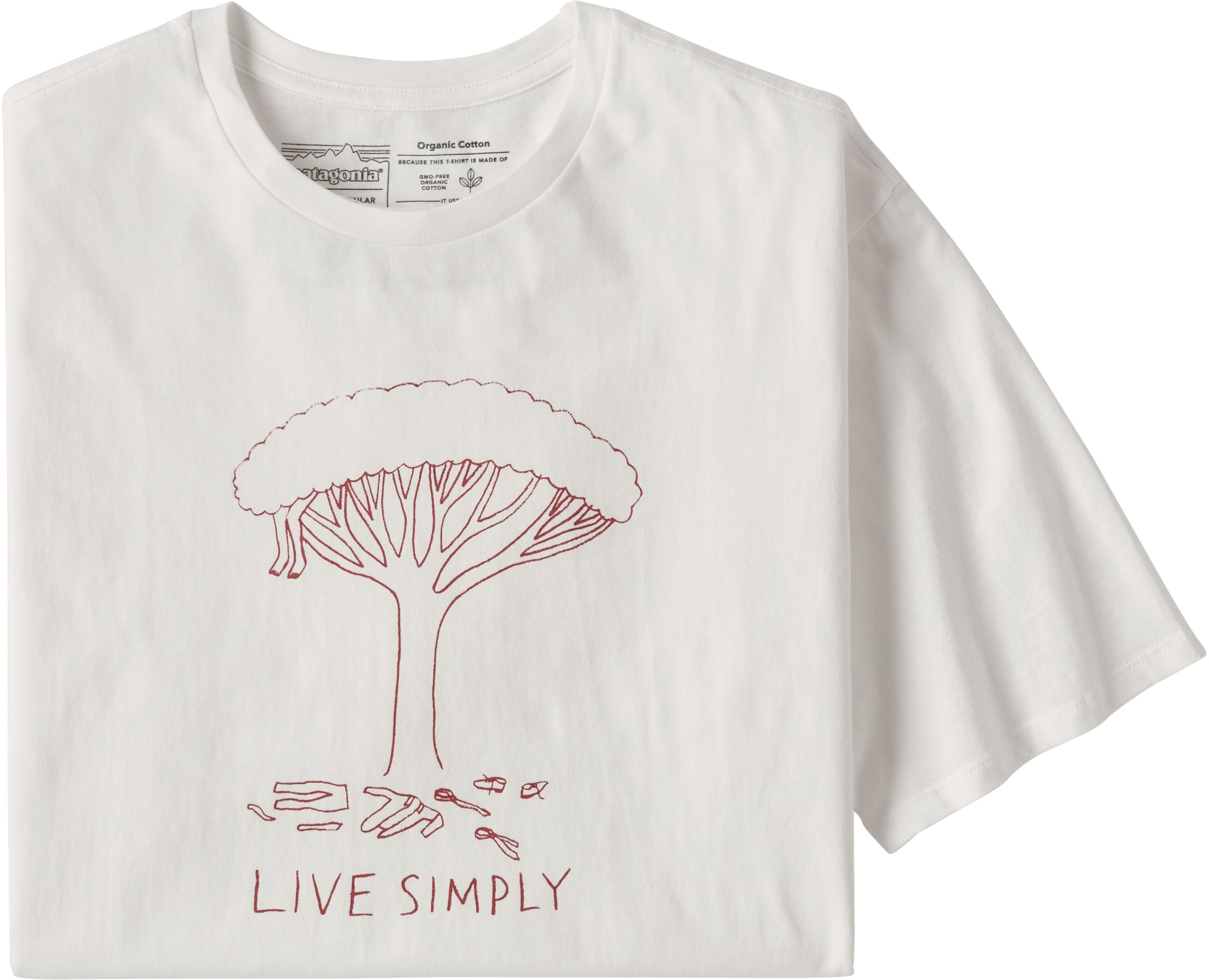 Ms Live Simply Midleaf Crisis Organic Cotton T-Shirt