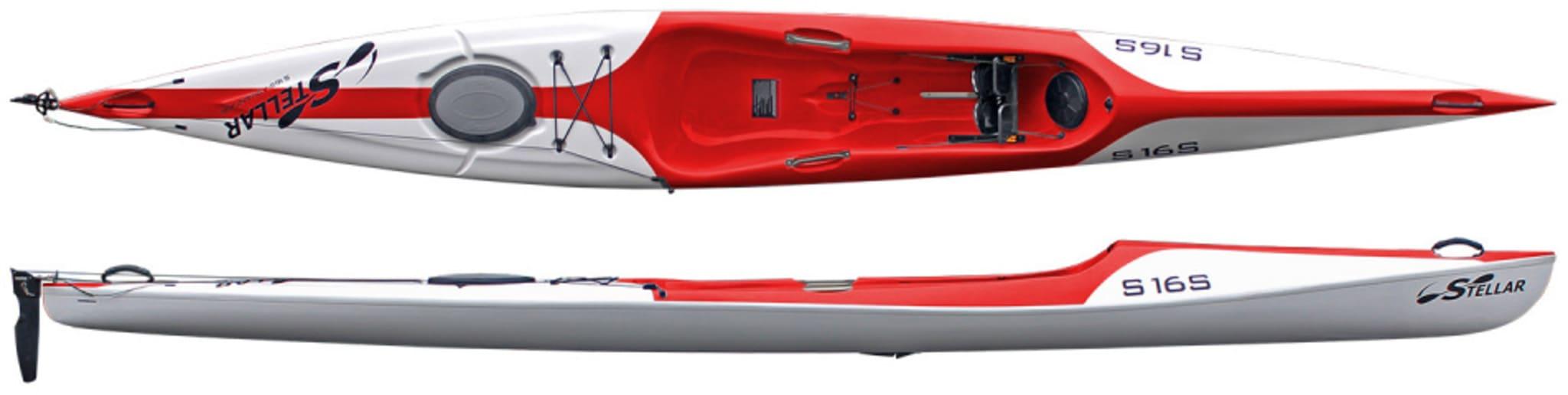 Stellar S16S Excel - kun 12,5 kg!. Stabil surfski for den kresne turpadler