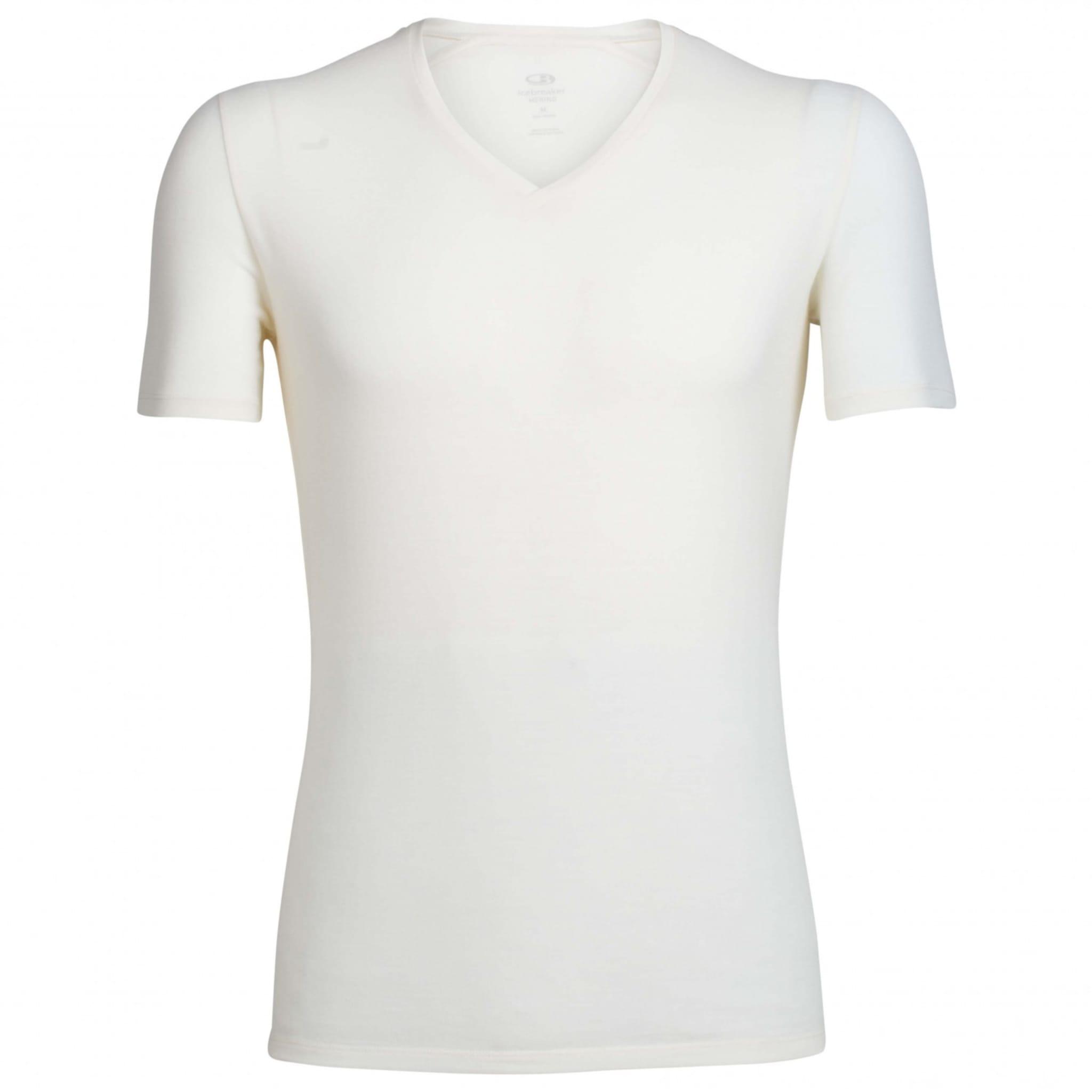Tynn og lett t-skjorte i ull fra Icebreaker med v-hals