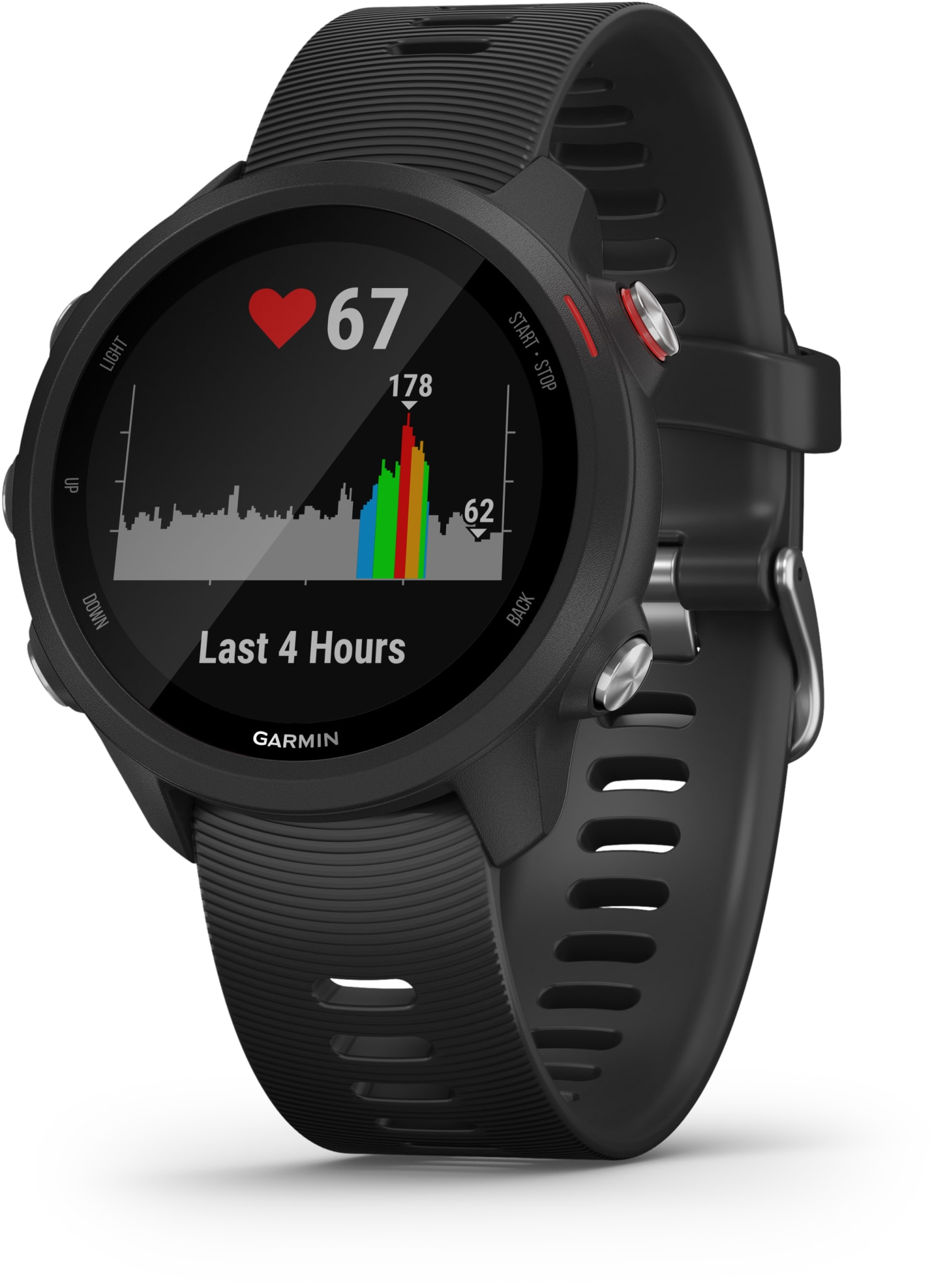GPS-løpeklokke med musikk og avanserte treningsfunksjoner