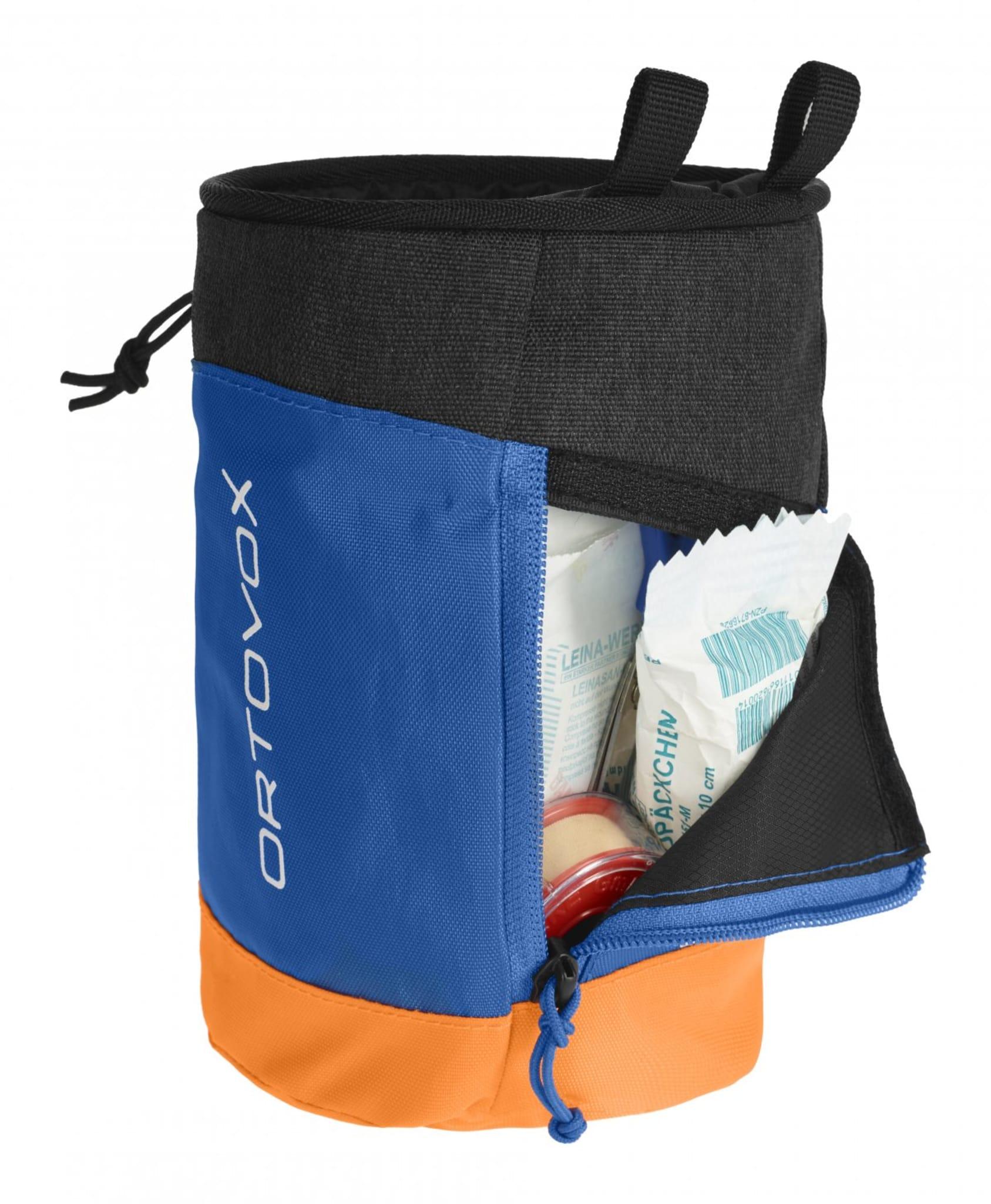 Kalkpose og førstehjelpsett i en pakke