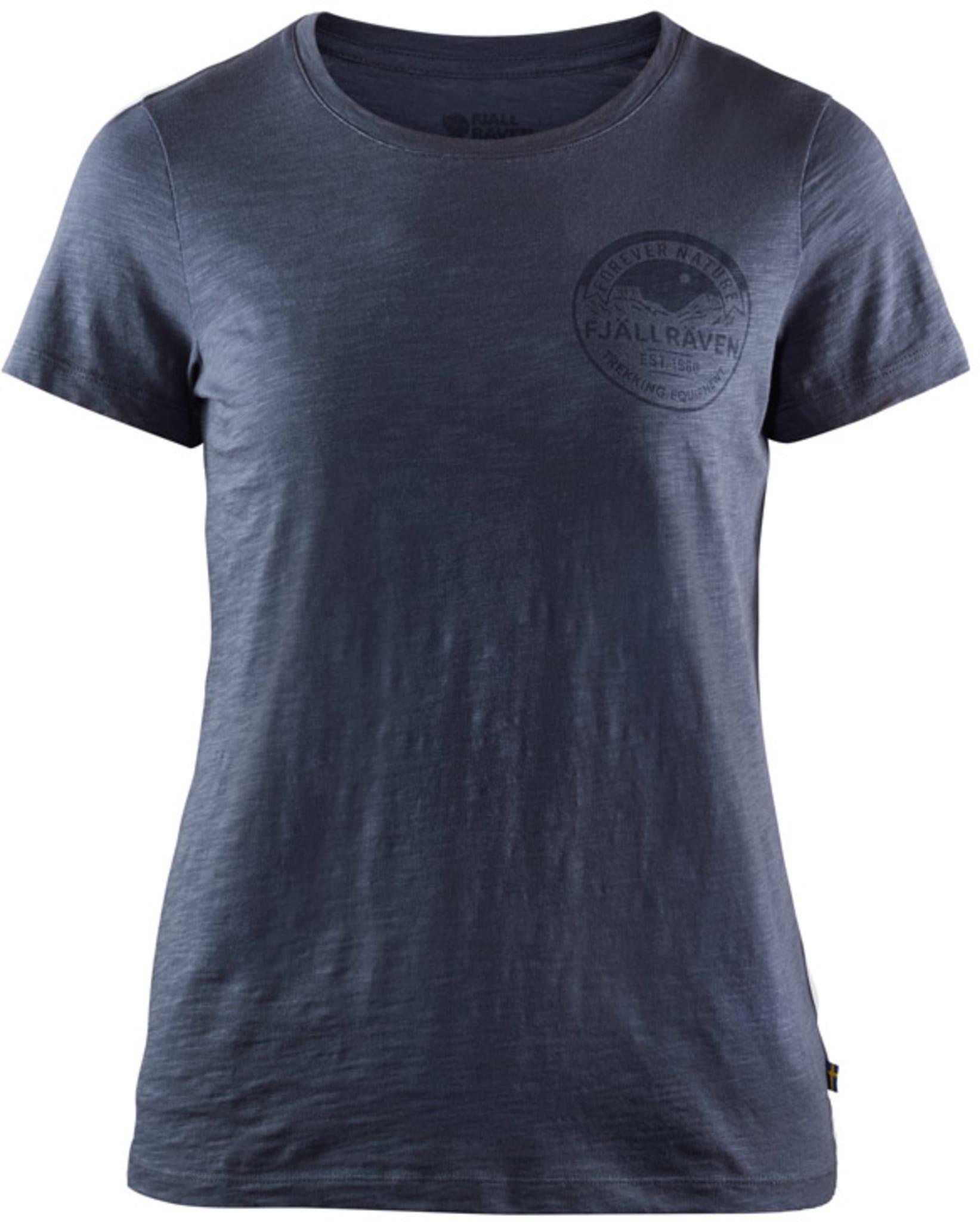 T-skjorte i økologisk bomull med Forever Nature-trykk på brystet