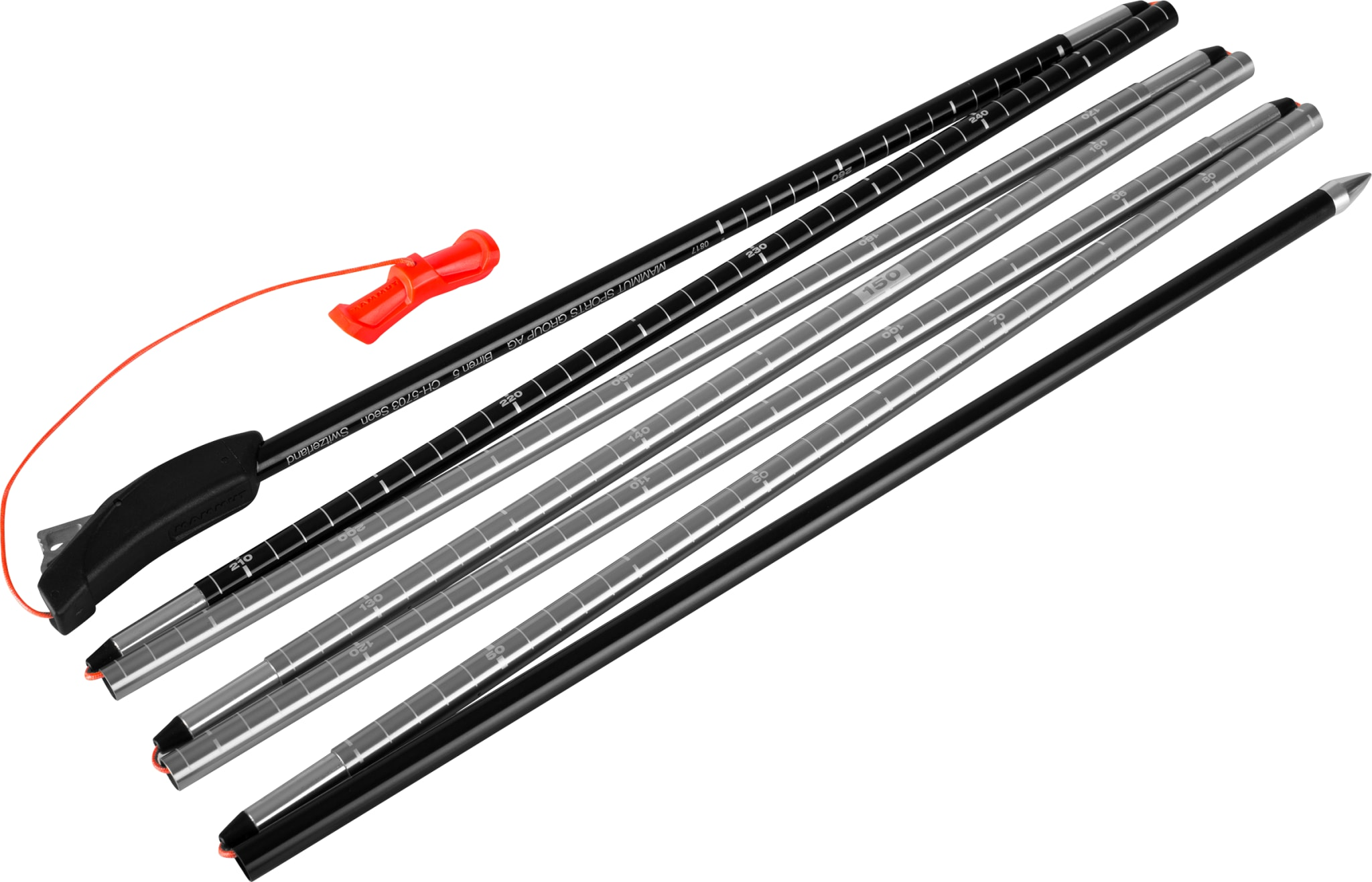 Lett søkestang i solid aluminium for god holdbarhet