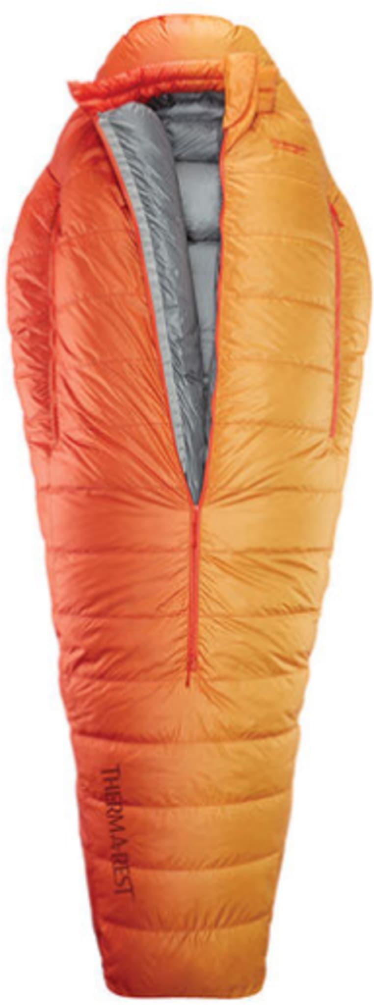 Sovepose med ekstreme varme-vekt-volum-forhold.