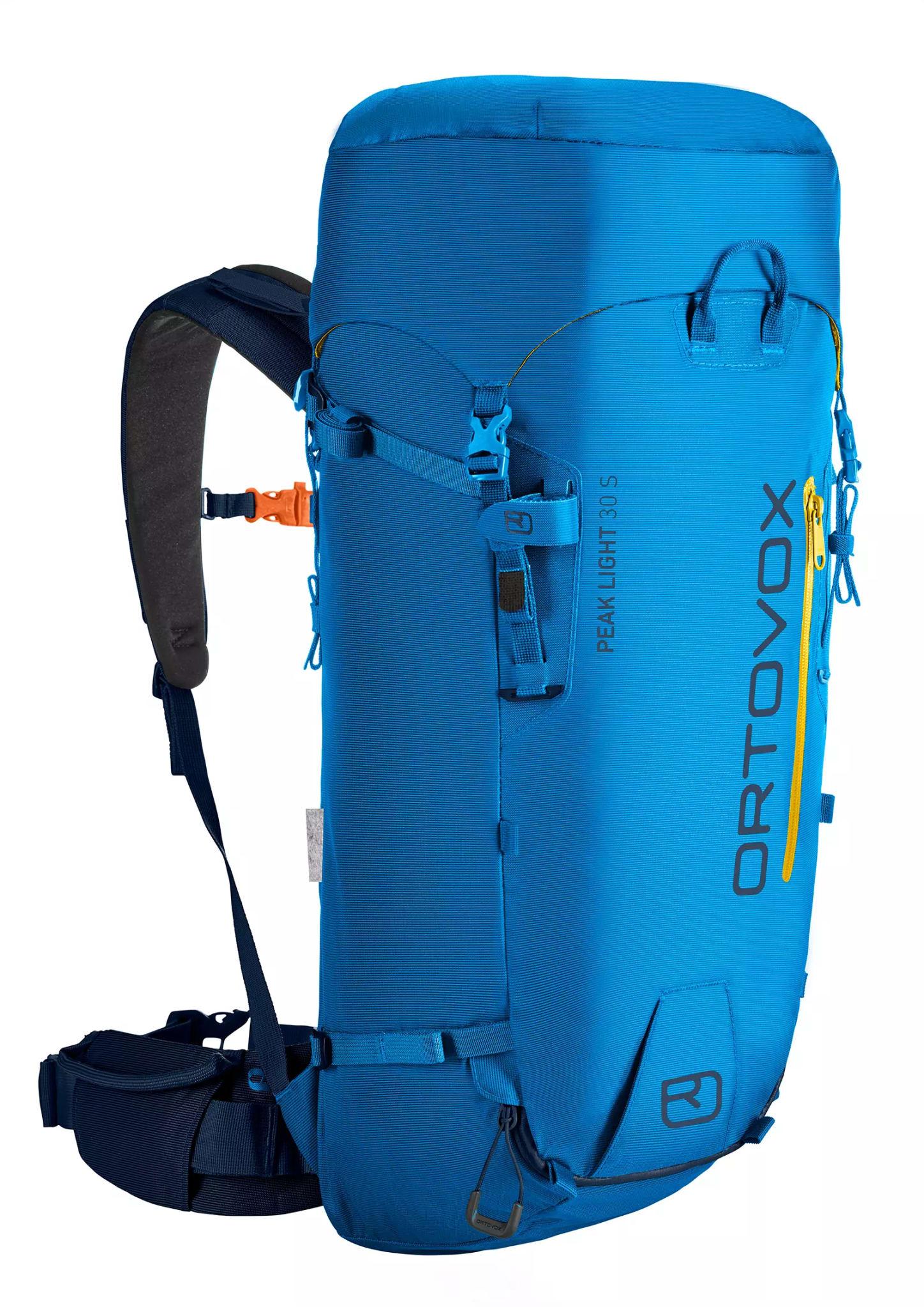 Svært lett og detaljrik sekk for klatring og ski med kort rygg
