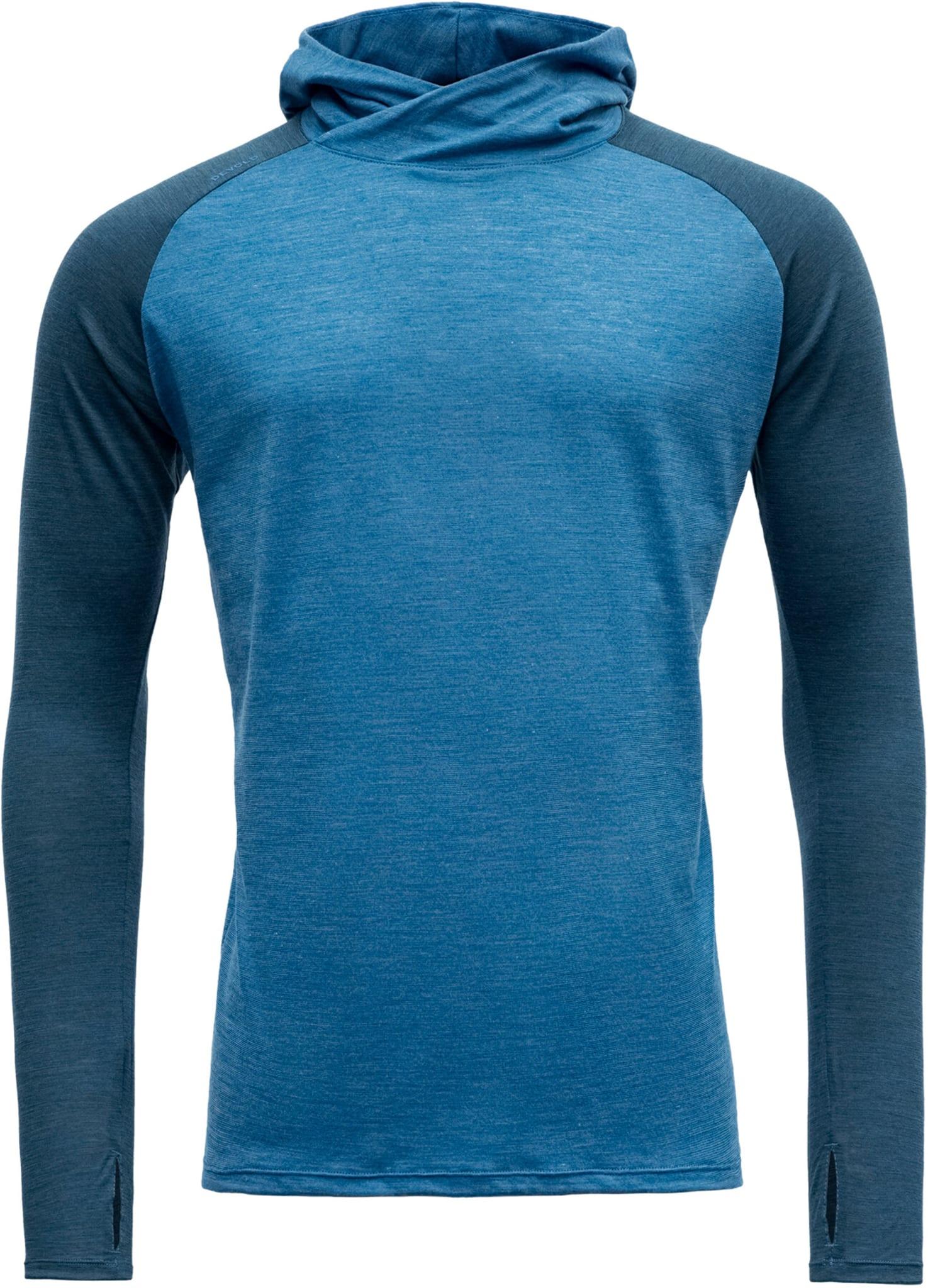 Tynn og lett hoodie i merinoull til hverdags og trening