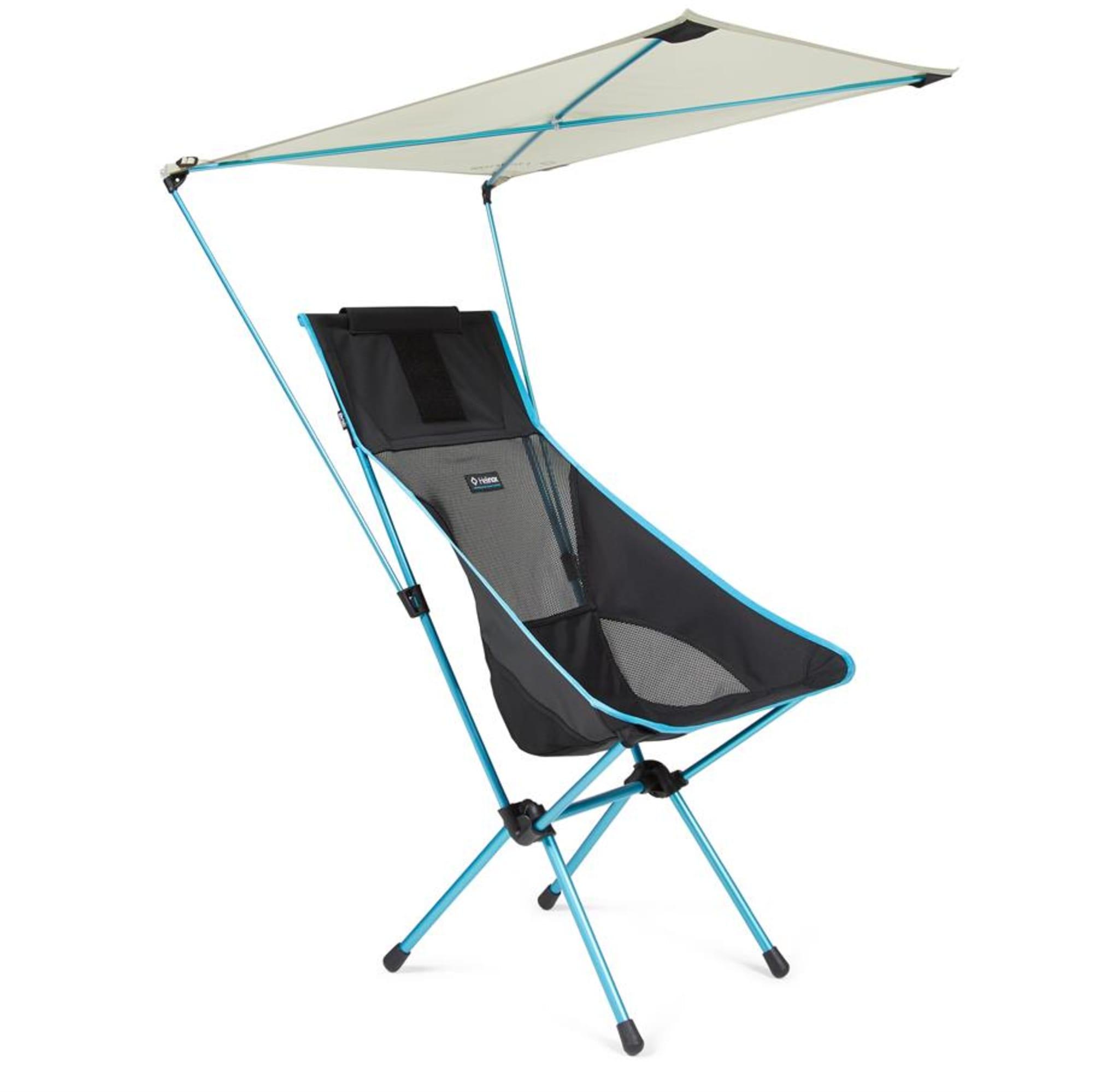 Smart parasoll som passer på de fleste stolene fra Helinox