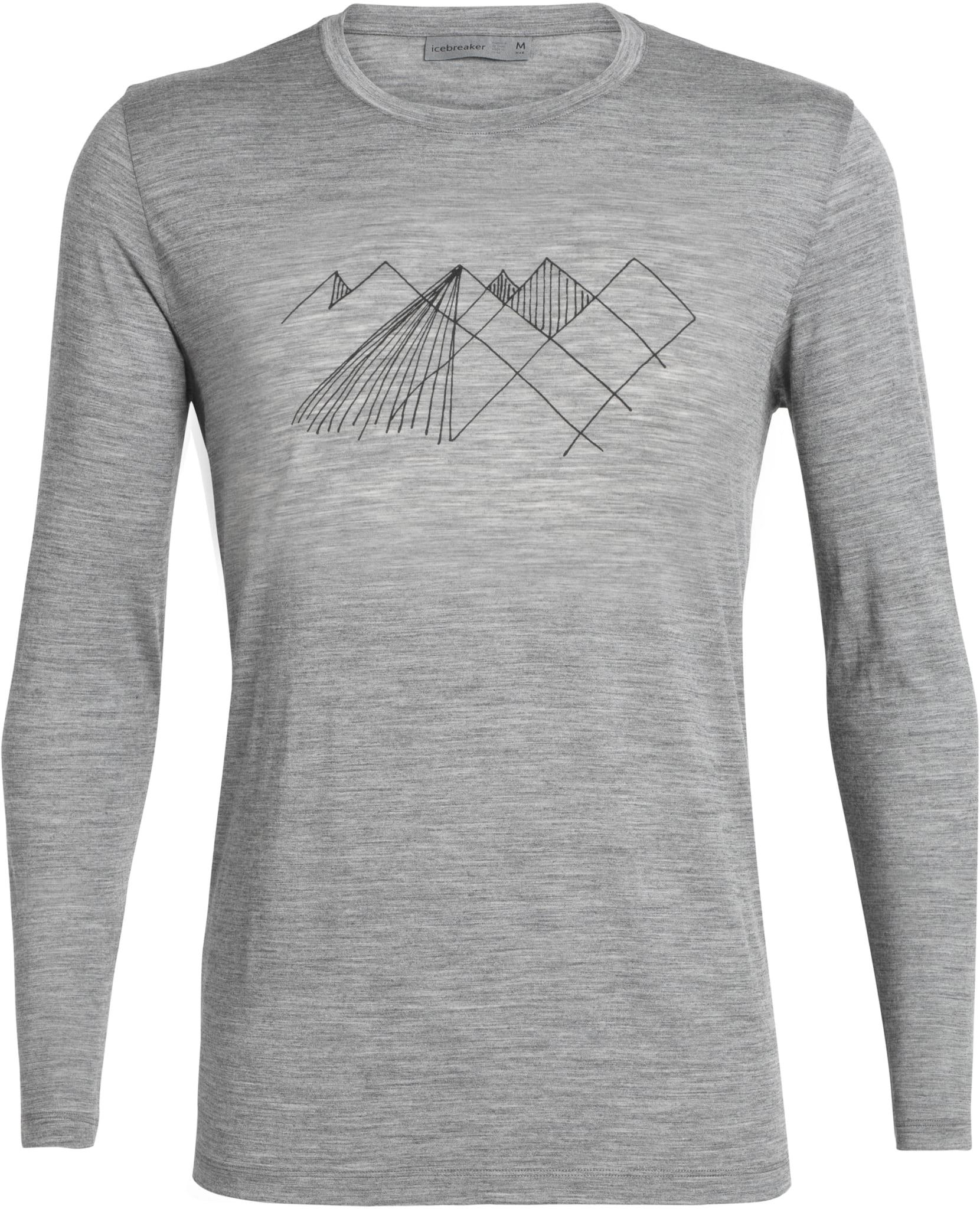 Supermyk langermet skjorte i merinoull med print