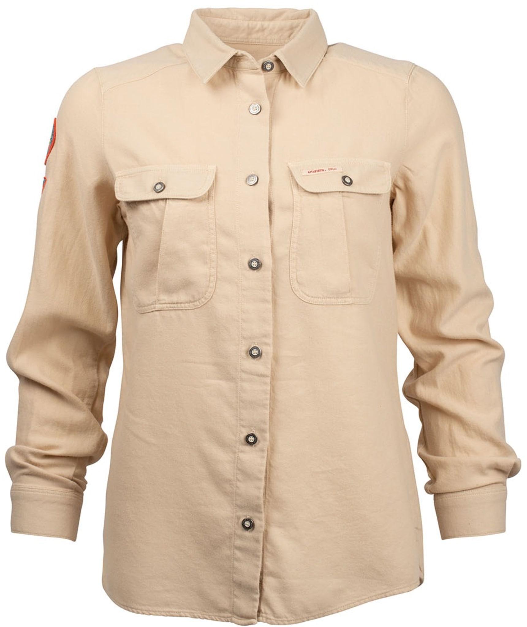 Flanellskjorte laget med spesiell fargeprosses for det ultimate utseende