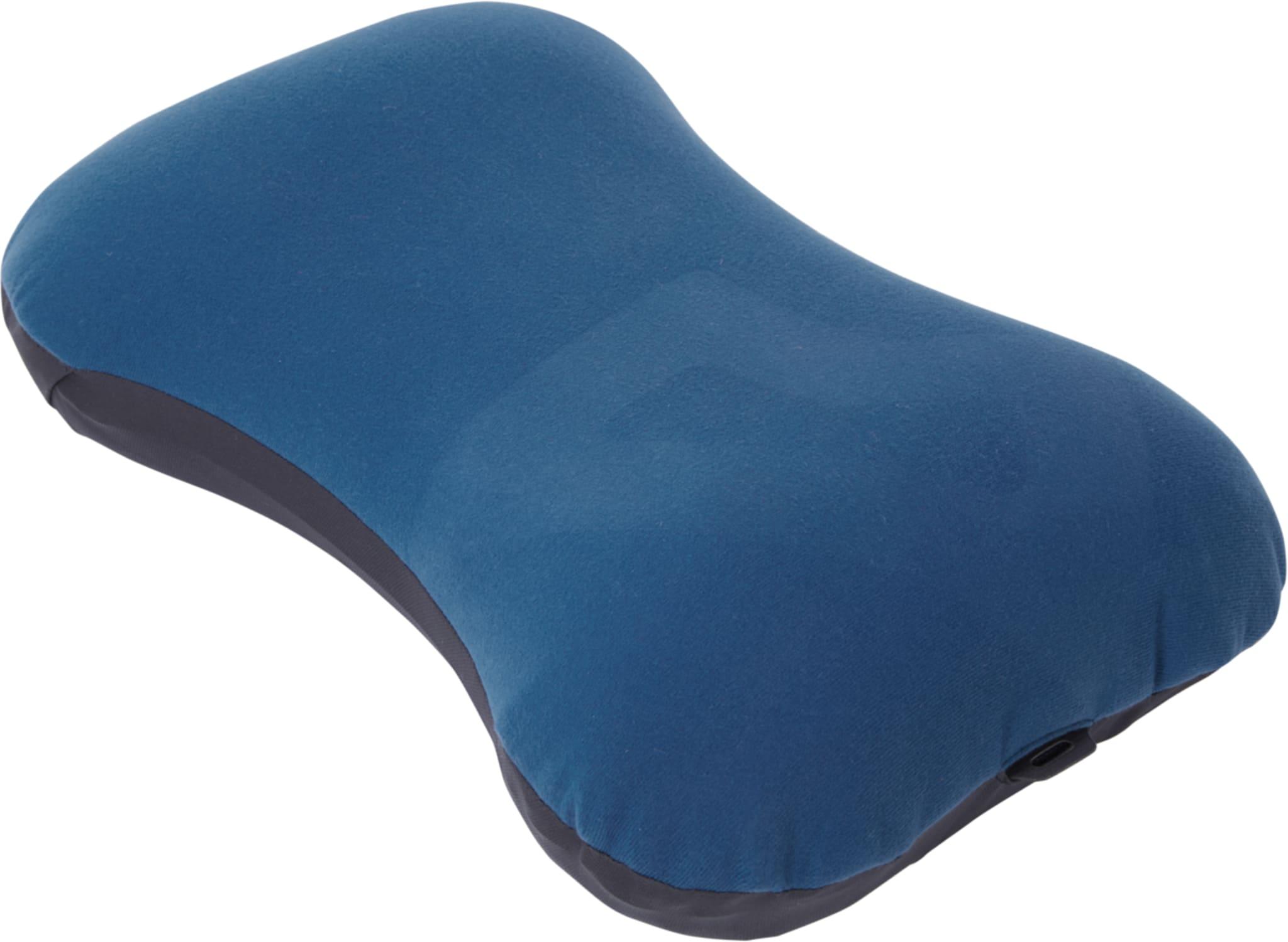 Lett og komfortabel oppblåsbar pute med syntetisk trekk