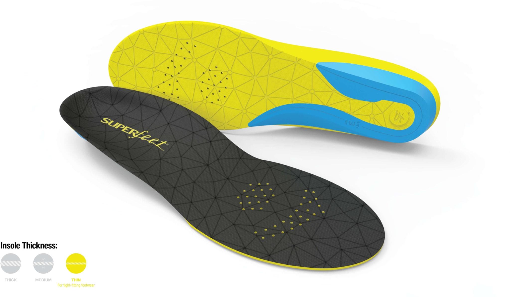 Komfortable såler som bygger lite og lett tilpasses dine sko