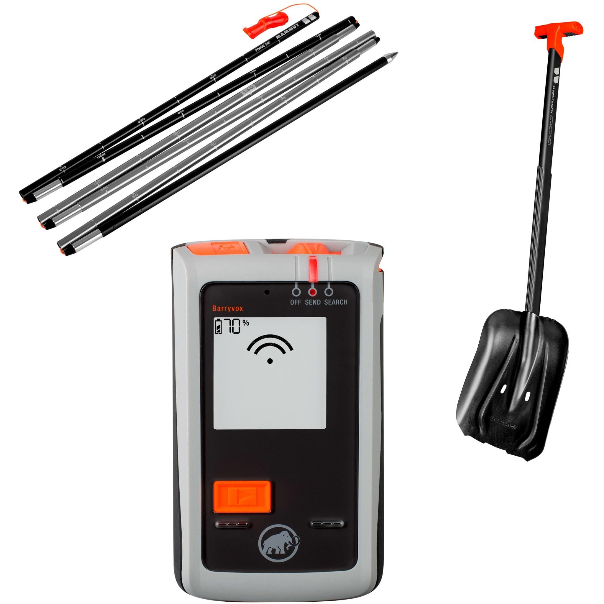 Sender/mottaker med 3 antenner, god spade og solid søkestang