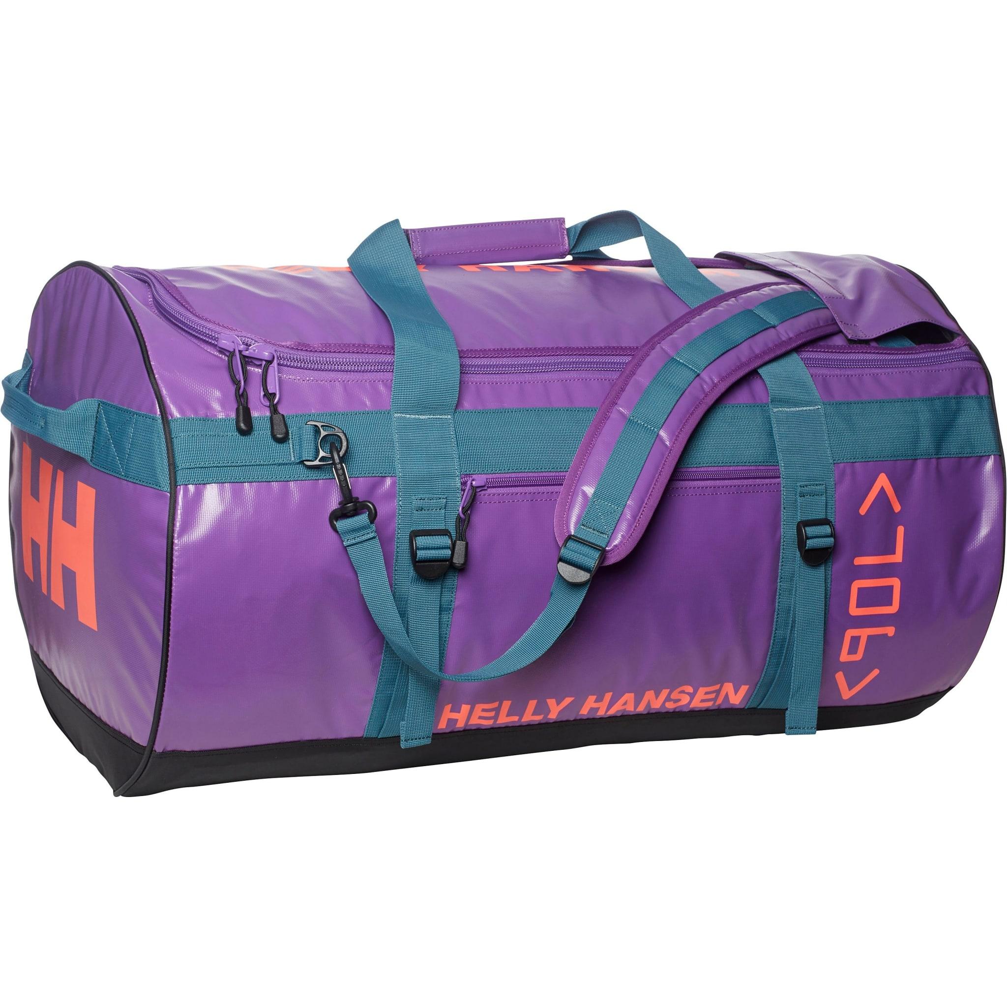 Stor og romslig duffelbag i kraftig PVC.